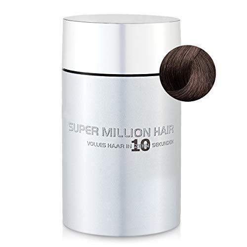 Super Million Hair - Fibres Capillaires Densifiantes pour Cheveux Clairsemés, Chute de Cheveux, 15g, Brun Clair (3)