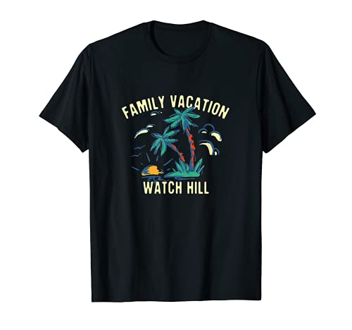 Familia Vacaciones Reloj Hill Verano Rhode Island Tropical Camiseta