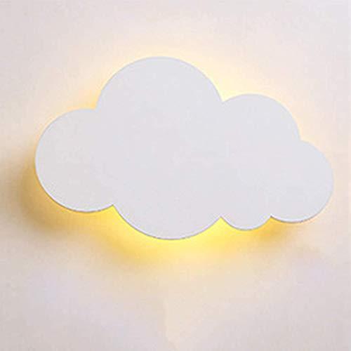 LED Kinder Wandlampe Kinderzimmer Wandleuchte Weiß Wolke Jungen Mädchen Schlafzimmer Lampe Nachttischlampe Nachtlicht Deckenleuchte Warmweiß Lichte Innen Wandbeleuchtung Deko Decke Leuchte 37*23cm 15w