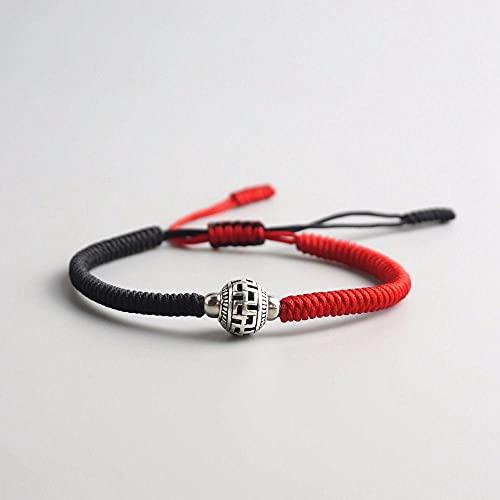 Handmade Knots Rope Bracelet Tibetan Buddhist Ball Prayer Bead Lucky Charm Tibetan Bracelets & Bangles For Women Men