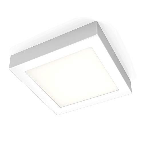 B.K.Licht Deckenleuchte inkl. 12W 900lm LED Platine, 170x170x32mm LED Aufbauleuchte, Aufputzleuchte 3000K Warmweiß für Innenräume