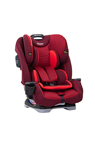 Graco Slimfit All-in-One Car Seat, Group 0+/1/2/3 (Birth to 12 Years Approx, 0-36 kg), Chili