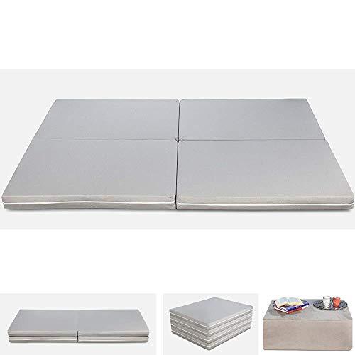 Evergreenweb Matelas d'appoint Pliant lit d'appoint lit d'invité futon Pouf 75x190 Pliable épaisseur 8 cm, Housse Lavable et Amovible (Futon Simple et Double)