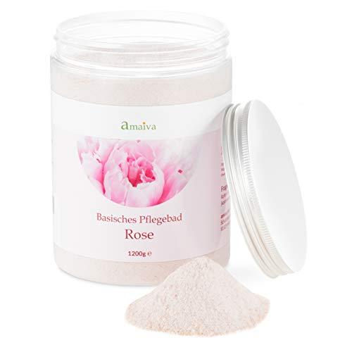 Basenbad Rose 1.200g (basisches Badesalz - für basische Körperpflege, Basenbäder, Fußbad und Wickel bei einem pH-Wert des Wassers über 7,5)