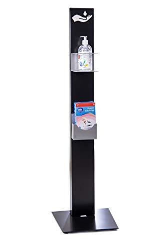 Gel Desinfectante Manos Columna Para Dispensador De Geles Desinfectantes E Dispensador Guantes De Acero 20/10 Con Base Estable Barnizada A Fuego Producto Profesional Envío Rápido