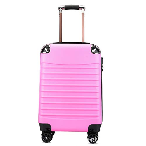 Trolley Case Zipper Trolley reistas bagage 20 inch kinderen trolley Case, Violeta (Roze) - errhf656566648