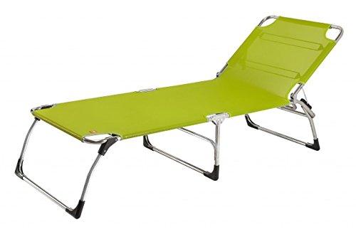 Jan Kurtz Liege Amigo Big - Pistazie, Aluminium, Textilene (PVC ummantelter Polyesterfaden) wetterfest und uv-beständig, Design - Gartenliege - Sonnenliege - Pool