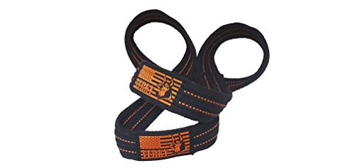 Verky Figure 8 Figure 8 Straps for Deadlift, Weight Lifting, Shrugs, and Weightlifting. Heavy Duty Cotton, 2 Sizes (Black, Medium)