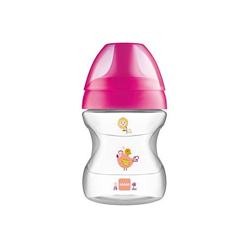 MAM Baby Products 62835122 - Bicchiere per imparare a bere della linea Fashion, bambina, 190 ml, colore: Rosa – Istruzioni in lingua straniera