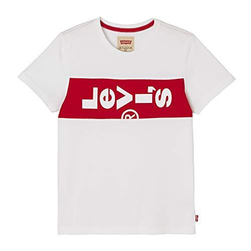 Levi's kids Nn10007 Short Sleeve tee-Shirt Camiseta, Blanco (White 01), 16 años (Talla del Fabricante: 16Y) para Niños