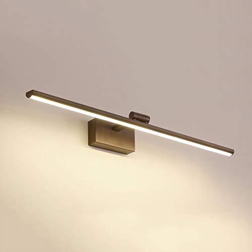 SXFYWYM Led-badkamerspiegel, licht, waterdicht, anti-condens, wit, moderne stijl, draaibaar, voor kaptafel, spiegel, kast, wandlamp