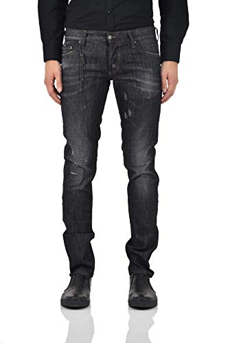 Dsquared2 Herren Jeans Slim Jean Size 48 50 52 Black Distressed Chain Dsquared 2