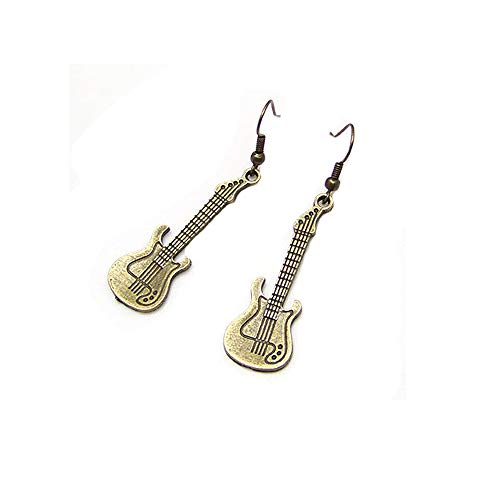 WLLAY Fashion Jewelry Instrument Violin Guitar Dangle Earrings for Women Birthday Gift