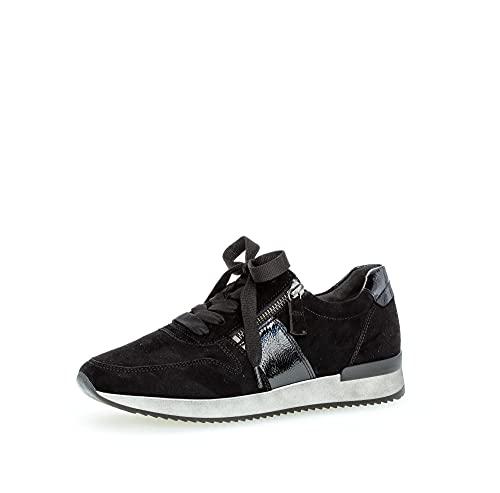 Gabor Mujer Zapatillas, señora Bajo,Plantilla Desmontable,Zapato de Calle,cordón,Zapato con cordón,Zapato Deportivo,Negro (Schwarz),36 EU / 3.5 UK