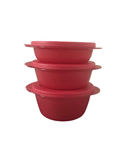 CRYSTALWAVE round set, 1.75, 2.5 & 3.5 Cup, Red Color