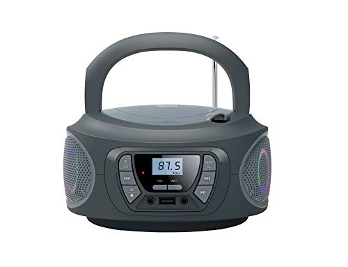 RADIO CD FONESTAR BOOM-ONE-G GRIS 4W RMS BLUETOOTH FM USB/MP3 AUX IN...