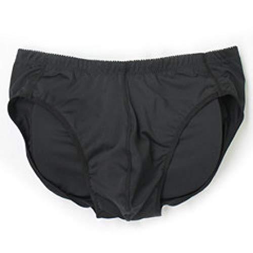 Kazogu Silikon-Pads, sexy Unterwäsche, Po Lifter, Stretch, Panty, Baumwolle, abnehmbar Gr. XXL, Schwarz