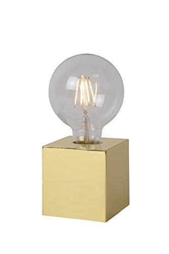 Lucide CUBICO - Lampe De Table - Ø 9,5 cm - LED - 1x5W 2700K - Laiton 01
