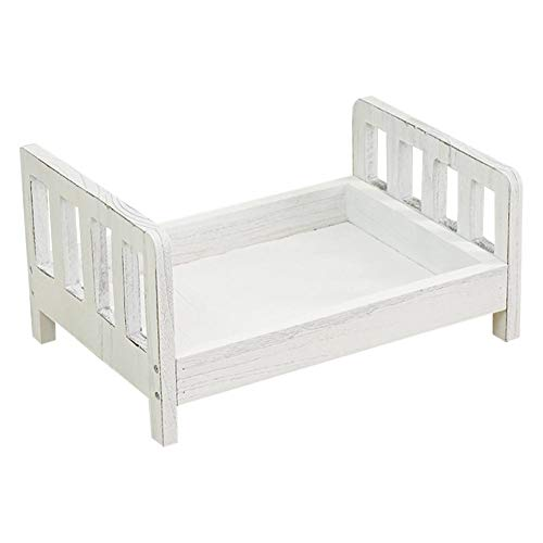 Newborn Photography Props Cot, Baby Photo Small Wooden Bed Newborn Props Crib Photo Studio Crib Props, 42x28 cm