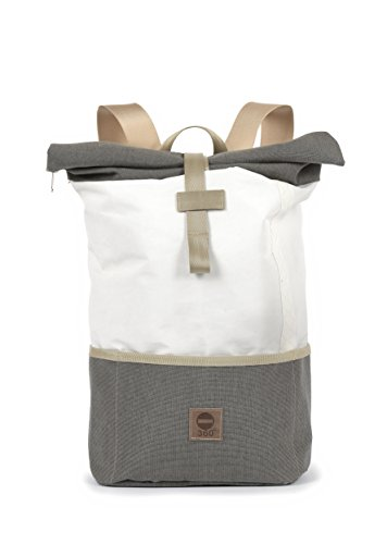 360 Grad Rucksack aus Segeltuch/Tweed Lotse unisex mit Gurt beige