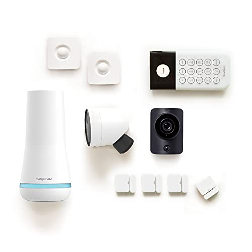 SimpliSafe 10 Piece Wireless Home Security System with Outdoor Camera - Optional 24/7 Professional Monitoring - No Contract - Compatible with Alexa and Google Assistant