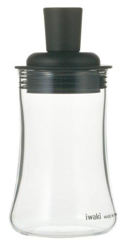 iwaki(イワキ) 耐熱ガラス ふりかけボトル ブラック KT5031-BKF