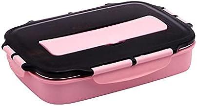 FunFive Pudełko na lunch, Bentobox dla dzieci i uczniów, pudełko na lunch wielokrotnego użytku, z przegródkami i sztućcam...