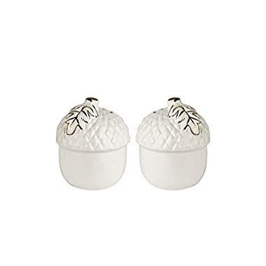 American Atelier 6965-SP-A Acorns Salt and Pepper Shakers, White