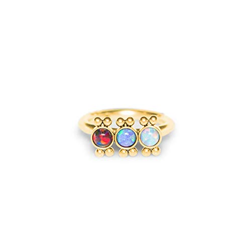 Cartilage Earring Opal Rook Piercing Hoop Tragus Jewelry Helix Earring Clicker Conch Piercing