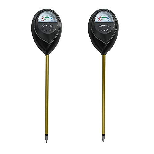 XLUX Soil Moisture Test Sensor Meter Water Monitor, Hygrometer for Gardening, Farming Planting, No Batteries Required, 2 Pack