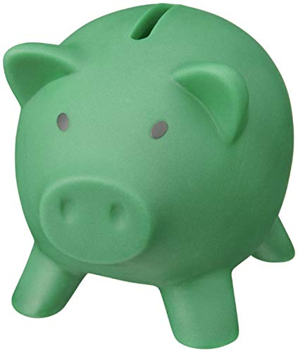 noTrash2003 Sparschwein Sparbüchse Geld sparen Dekoration Schwein Schweinchen Piggy Miss Verch. Farben (Grün)