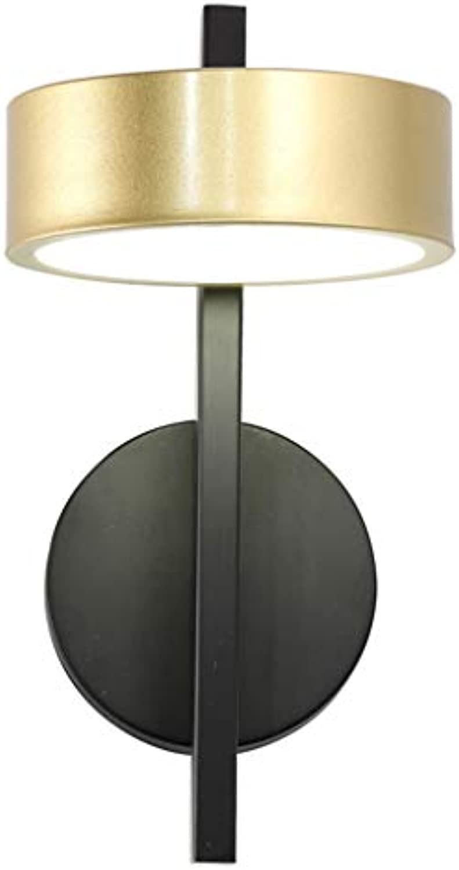 LED Wandleuchte, Europischer Stil Gold + Schwarz Aluminium Innen- Schlafzimmer Bett Gang Treppe 6w Weies Licht Wandlampe