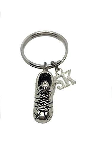 Runner 5k Running Shoe Charm, Keychain Bag Charm Key Chain Zipper Pull Runner Gift