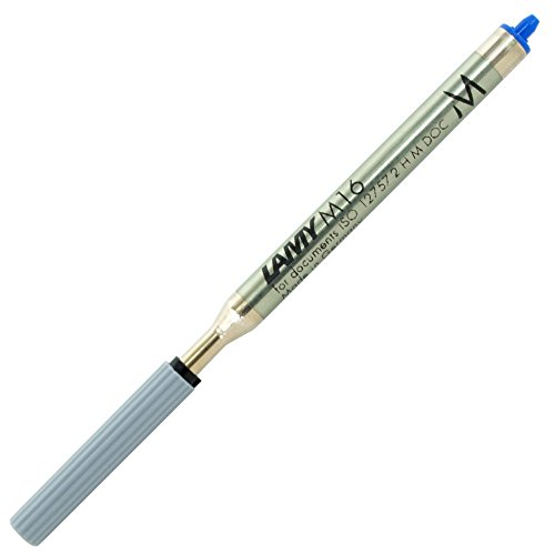 LAMY M 16 Mine 801 – Kugelschreiber-Mine aus Metall in der Farbe Blau – Strichbreite M