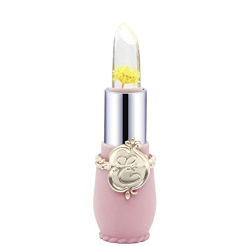 Tefamore Beauty Bright Flower Crystal Jelly Lipstick Magic Temperature Change Color Lip (C)