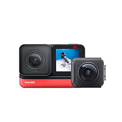 Insta360 ONE R Twin Edition – 4K Action Camera & 5.7K 360 Camera with Interchangeable Lenses, Stabilization, IPX8 Waterproof, Touch Screen, AI Editing from Insta360