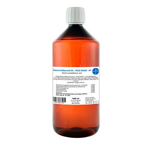 Wasserstoffperoxid 3% FOOD GRADE I 1 Liter I Pharmazentralnummer-16613710 I unstabilisiert I Herrlan I Made in Germany I HERRLAN ANTWORTET AUF AUSNUTZUNG DER SITUATION