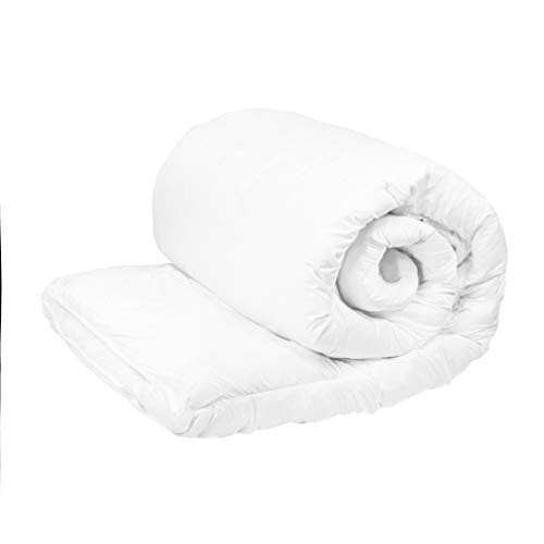 13.5 Tog Luxurious Goose Feather & Down Quilt, 15% Down Bed Duvet, Poly-Cotton Soft Cover, Anti-dust mite & Feather-proof Fabric Anti-allergen Size Single Double King Super King (Single)