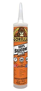 Gorilla 8060002 100% Silicone Sealant 10 oz White 1-Pack