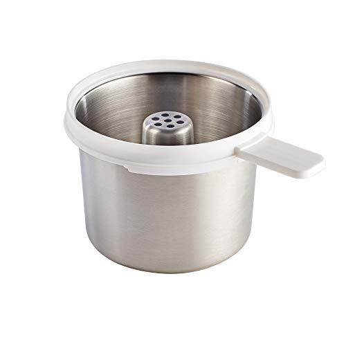 BÉABA, Pasta-Rice Cooker, Panier/ Bol de Cuisson Féculents, Accessoire Babycook, Compatible Babycook Neo, Contenance 750g, Facile d'entretien, Inox
