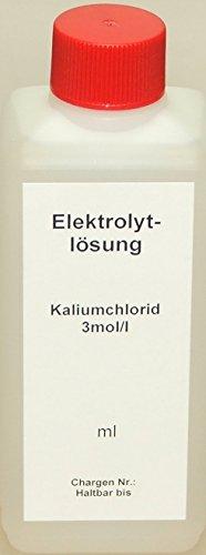 Lasama KCL Kaliumchlorid 3mol/l 250 ml Elektrolytlösung Pufferlösung Eichlösung Kalibrierlösung
