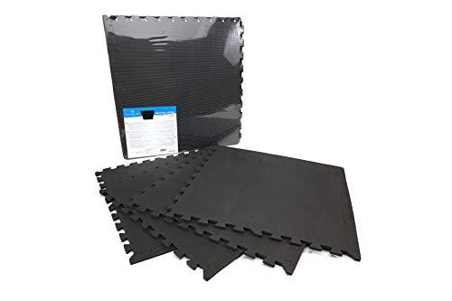 Alfombrillas De Espuma - 4 Pcs - Puzzle Suelo - Goma eva - 60x60cm (Negro)