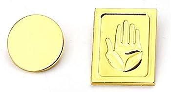 Kujo Jotaro Badges Golden Pins JoJo s Bizarre Adventure Cosplay Metal Badge Cap Accessory