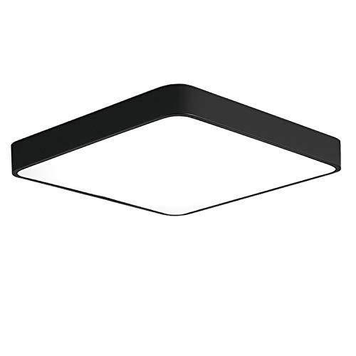 Lámpara de techo LED Ganeed con montaje empotrado, 24 W, 12 pulgadas, moderna lámpara de techo cuadrada, 6500 K, blanco frío,...