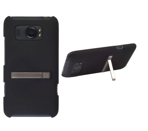 HTC OEM Hard Shell Cover with Kickstand for HTC Titan II, Black