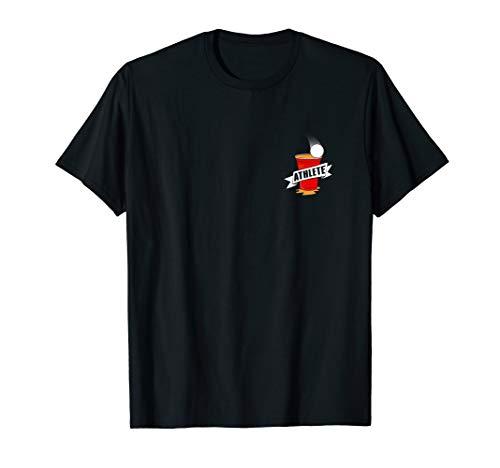 Beer Pong Athlet Trinkspiel Party Beerpong Bierpong T-Shirt