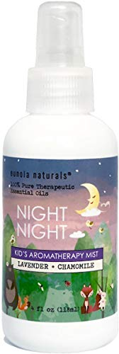 NIGHT NIGHT- Kid's Lavender Sleep Spray, Lavender + Chamomile Oil Kid Strength, Calming + Soothing Kid's Spray, Children's Lavender Bedtime Spray, Kid's Lavender Sleep Spray, Reduce Kid Tantrums, 4 oz