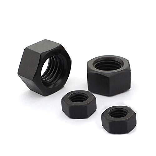 Chenhan Tuerca Hexagonal 100pcs M2 M3 M4 M5 M2.5 M6 M8 M10 M12 M14 M16 Negro Grado 8.8 de Acero al Carbono Tuerca Hexagonal Tuercas hexagonales Inoxidable (tamaño : M2(100PCS))