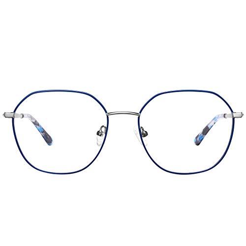 Carfia Brille mit Blaulichtfilter Damen Computerbrille gegen Augenermüdung Kopfschmerzen, UV Schutzbrille
