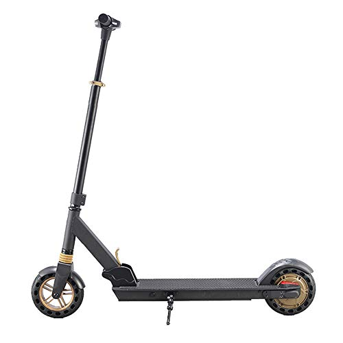 M/P Electric Scooter Adult Electric Kick Scooter Foldable Lightweight Front Shock Absorber 36V/350W Horsepower Maximum Speed 25Km/h Dual Brake System for Travel and Commuting